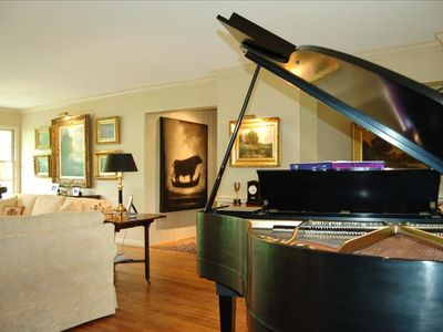 Formal Living Room with Original Art and Baby Grand