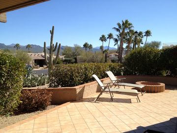 Rio Verde house rental - Outdoor fire pit and great area for soaking up the sun and views!