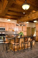 Seven Springs house photo - Gourmet kitchen with two tables for seating