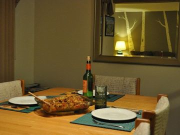 Enjoy a home cooked meal after a long day on the slopes.
