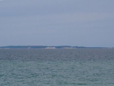 View of North Manitou Island from Beach Access