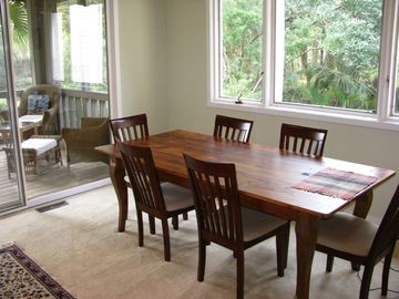 Dining room and screened in porch