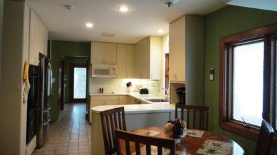 Virginia Beach house rental - Large Kitchen...Back Hallway to Laundry, Powder Room and Back Yard.
