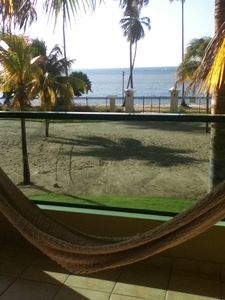Hammock and view from the balcony