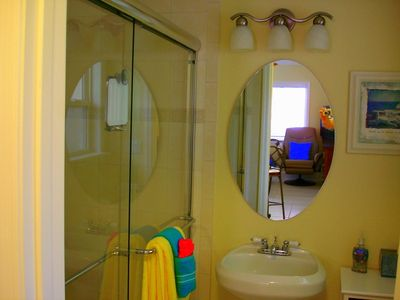 New Glass Shower Doors, Large Walk-In Shower