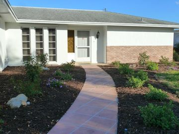 Newly landscaped entrance.