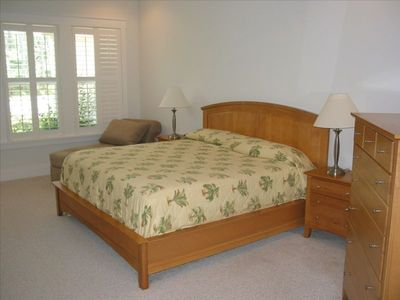 Dune Allen Beach house rental - Master Bedroom. (view flat screen TV also across room)