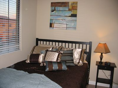 Spare bedroom with queen bed