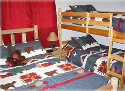 """Bear"" Bedroom Queen and Bunkbeds"