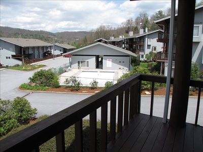 Deck Off Master Bedroom Overlooking Pool & Clubhouse