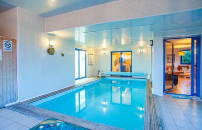 Villa close to the sea with heated interior pool-Welcome Gift provided by owner