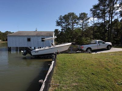 Boaters/Fishermen use our private concrete loading ramp.
