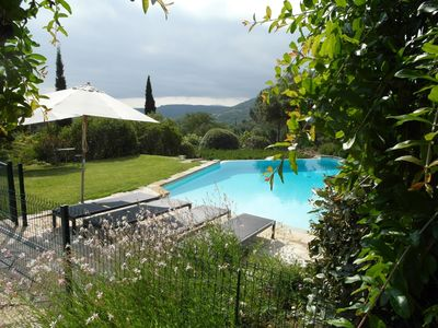 Grimaud villa rental - Pool with a wonderful view.