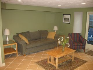 Ogunquit house photo - Basement apartment with fold out air matress couch and seperate entrance
