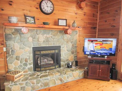 Carolina Cabin Rentals Cloud 9 Stone Gas Fireplace