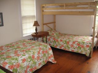 Harwich - Harwichport house photo - Main house bedroom 2 with newer organic single beds and en suite bath.
