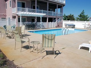 Corolla house photo - oversized 16x32' pool & concrete lounging area. Ocean & golf views from here too