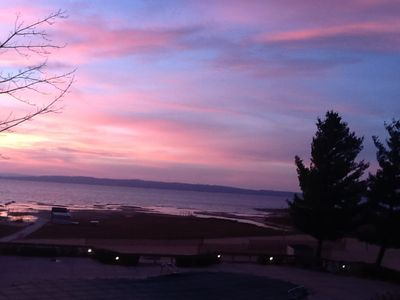 Traverse City condo rental - Another gorgeous fall sky after sunset from the condo