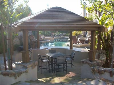 Looking through Gazebo to the pool