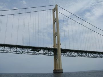 Travel by water to Mackinac Bridge!