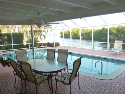 Stunning canal, mangrove, river views from the living, dining, kitchen, master b