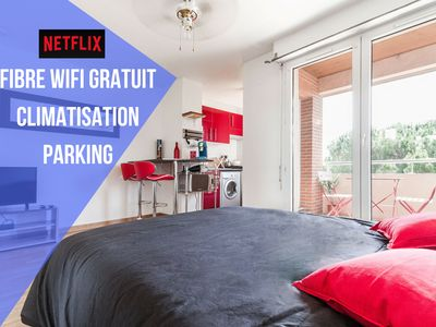 Cosy Studio with Parking, Wifi, A/C and outdoor swimming pool