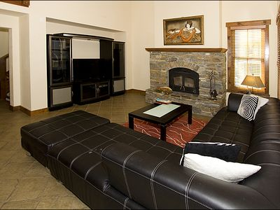 Mammoth Lakes townhome rental - Leather Sofa Sectional