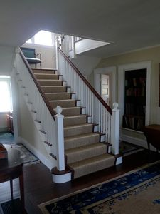 Rockport house rental - Staircase leading to the 2nd floor