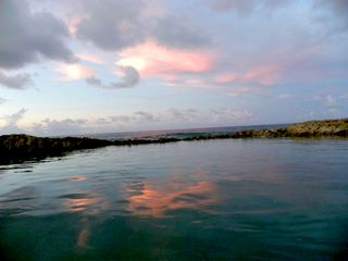 St. Croix villa photo - Sunset reflected in our Tidal Pool