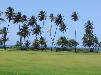 Enjoy the sun, sand and golf surrounding this beautiful vacation home.