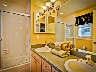 Key West house photo - The master bathroom has twin vanities.