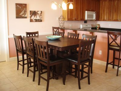 North Wildwood condo rental - Dining for 10; Kitchen: Cherry and Granite