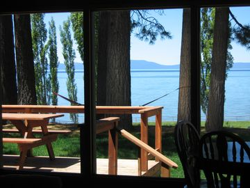 Lake Tahoe seen through the main room window!