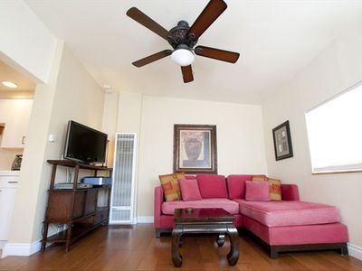 Includes flat screen HDTV with Verizon FIOS TV & wireless internet.