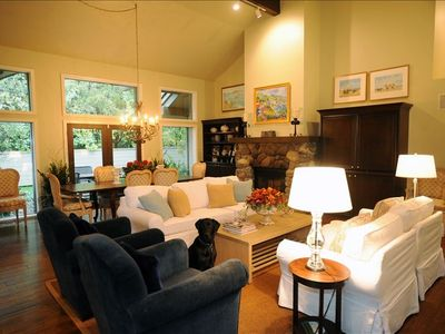 Sun Valley house rental - ENTERTAIN WITH A WOOD BURNING FIREPLACE