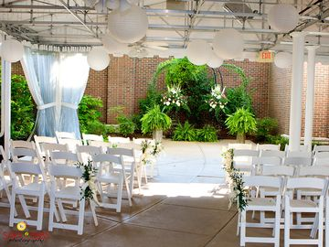 .Wedding ceremony facing gazebo