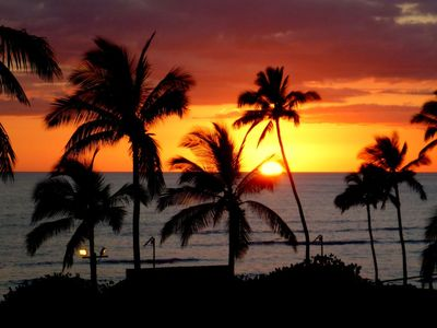 Picture taken from our Lanai.  Sunsets every night with a 180 degree view!