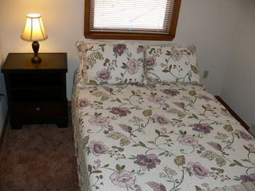 Full Size Bedroom on 2nd Floor Chest, Night Stand & 24' Flat Screen Television.