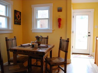 Indulge in the beautiful morning sunshine in this delightful breakfast nook.