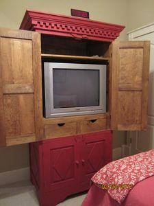 TV armoir in Twin bedroom - 1st floor