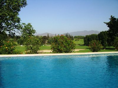 Mijas Costa villa rental - pool with view at hole V