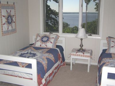 3rd Bedroom with twin beds and a great view