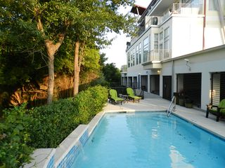 Pool view looking toward apartment - Houston condo vacation rental photo