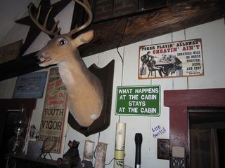 Newfound Lake cabin photo - Buck, the moving & singing deerhead. Hook up to ipod and he sings your songs