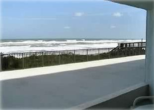 SOUTHEAST VIEW OF BEACH FROM ONE OF TWO BALCONIES