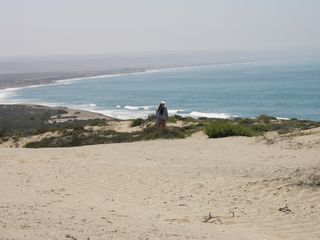 San Quintin house photo - On top of the sand dune looking to the south.