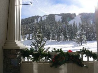 Copper Mountain townhome photo - Our balcony view of ski runs & Super Bee high-speed 6 person lift.