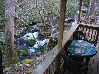Clayton cabin photo - Have breakfast or dinner over looking the stream