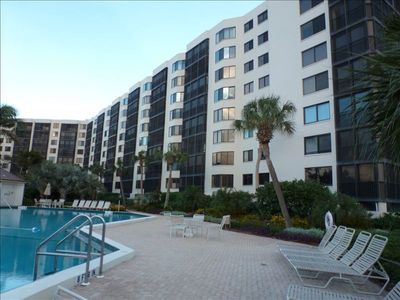 Siesta Key condo rental - View of condo from swimming pool