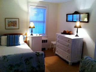 Marblehead apartment photo - #2 bedroom with two twin beds, one bureau.